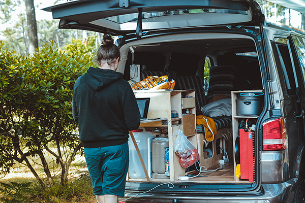 Working in a campervan